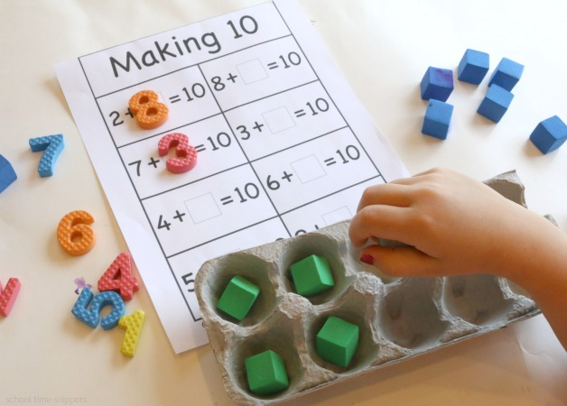 Cool Ten Frames Math Idea