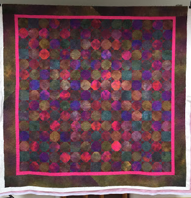 Sheila's hand-dyed quilt