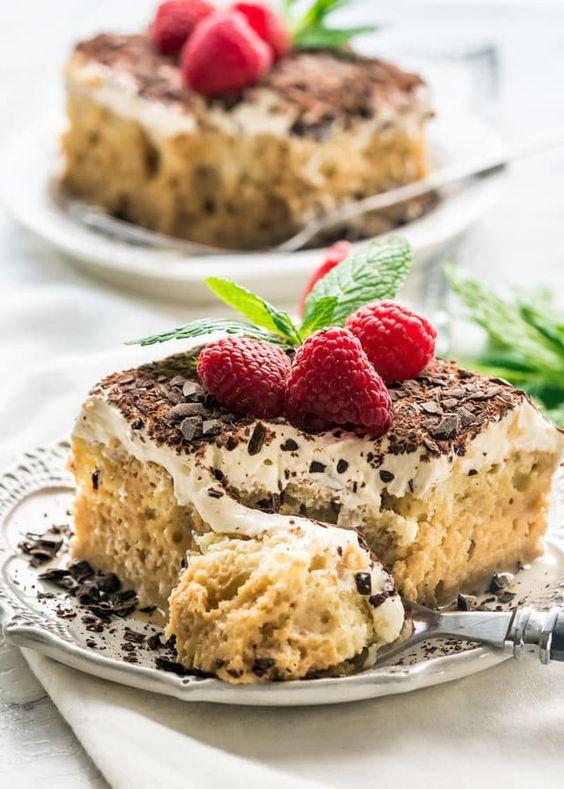 Tiramisu Tres Leches Cake