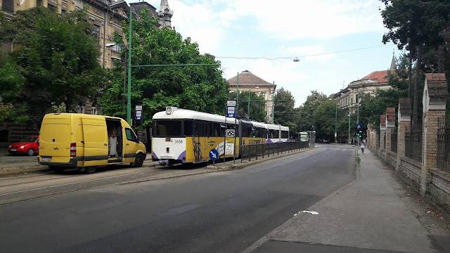 Circulatia tramvaielor, blocata langa Parcul Poporului din cauza unei avarii la linia electrica