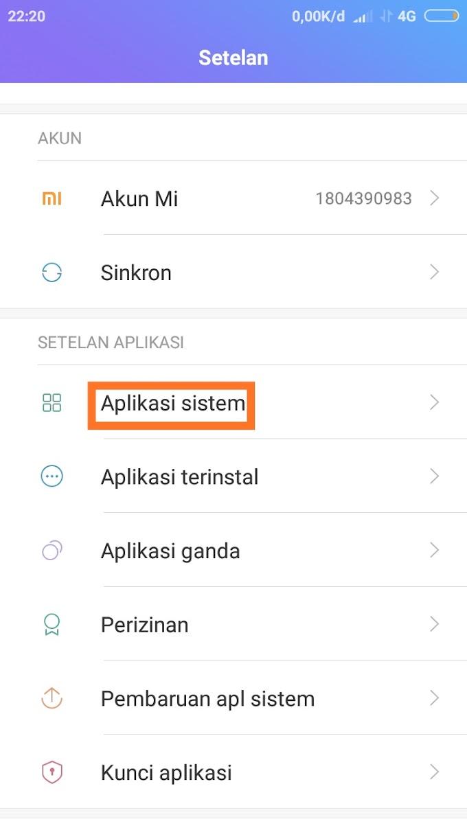 Cara menampilkan kontak sim di xiaomi
