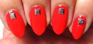 Coral Stud Nails