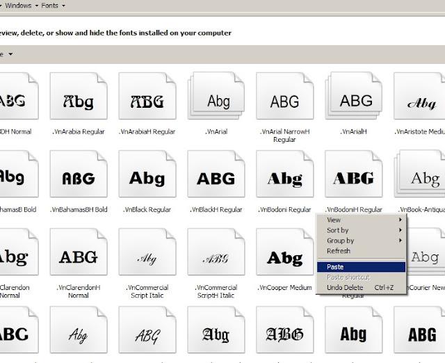 Hướng dẫn cài đặt Font VNI Full trên máy tính 3