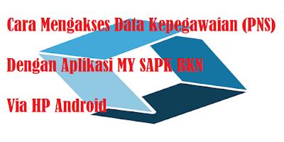 Cara Mengakses Data Kepegawaian (PNS) Dengan Aplikasi MY SAPK BKN Via HP Android