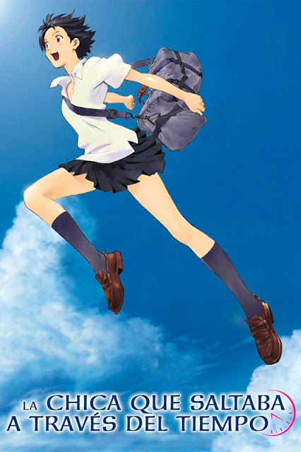 Cartel de la película de animación japonesa La chica que saltaba a través del tiempo