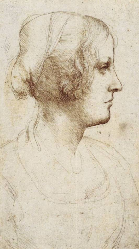Study of Young Woman in Profile