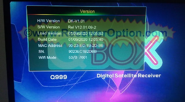 QBOX Q999 1507G 1G 8M NEW SOFTWARE WITH FOREVER IKS OPTION