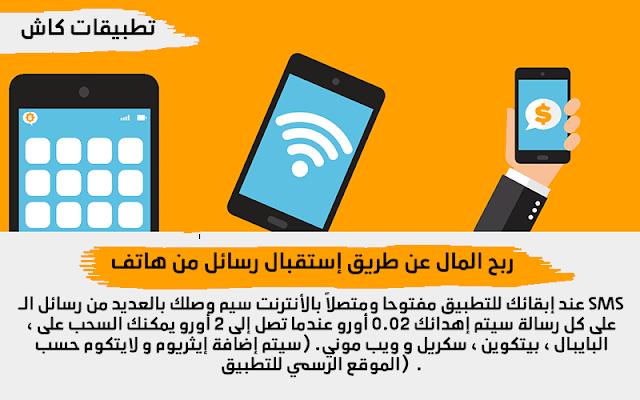 ربح المال عن طريق إستقبال رسائل SMS في هاتف