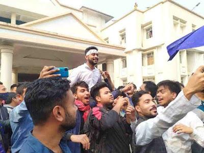 Gauhati University PGSU Election: Parshwa Patgiri shines