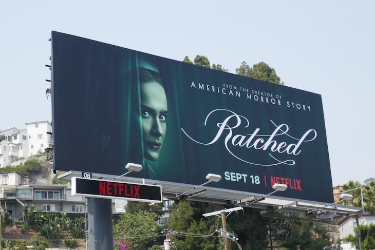 Sarah Paulson Ratched Netflix billboard