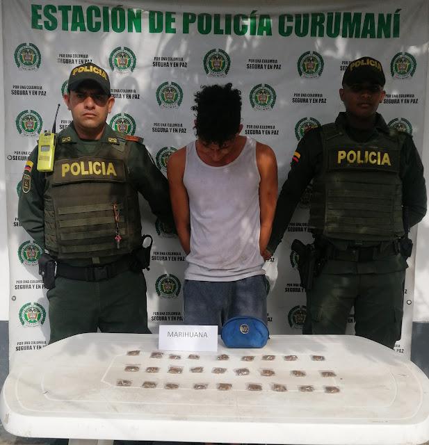 Jíbaro de marihuana en Curumaní fue privado de la libertad