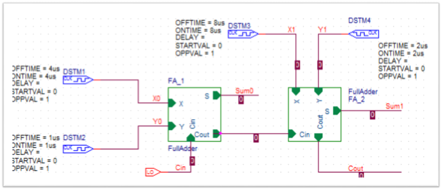 2 Bit Full Adder Mixed Electronics Diagram Schematic