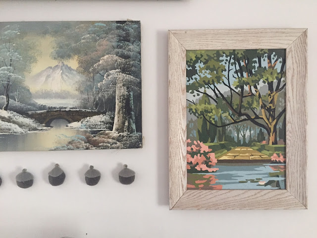 Thrifted Paint by Numbers Art at A Nest for All Seasons