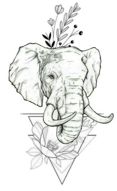 Elephant-with-Flowers-and-Triangle