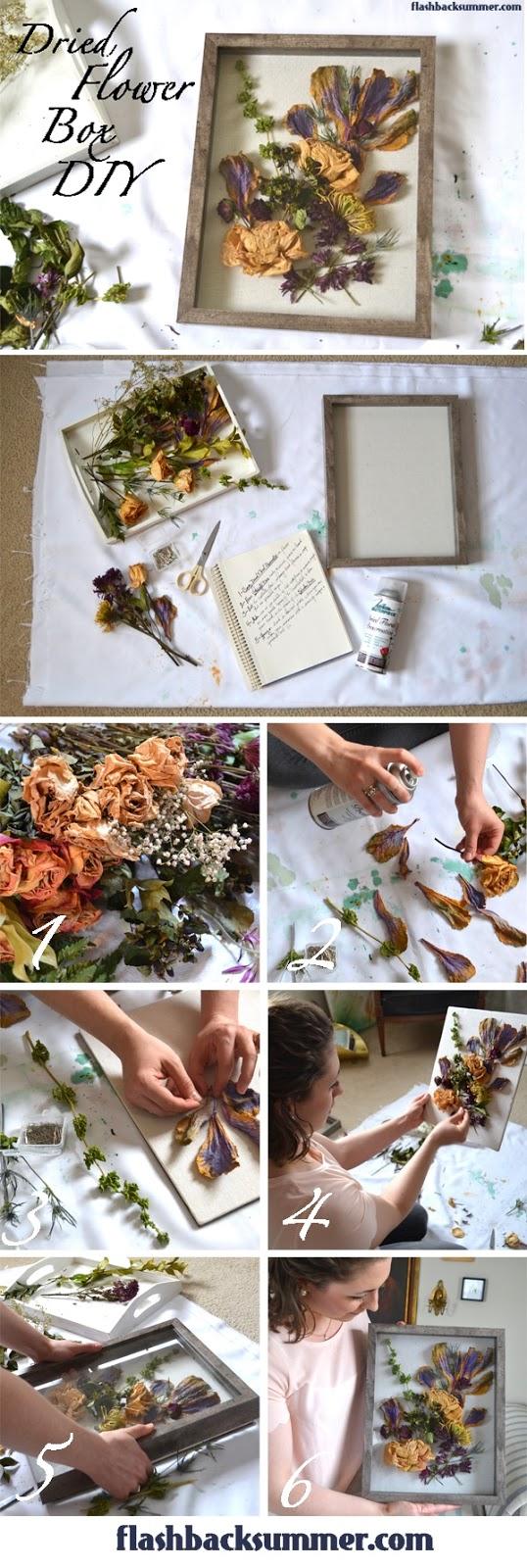 Dried Flower Box Diy Flashback Summer
