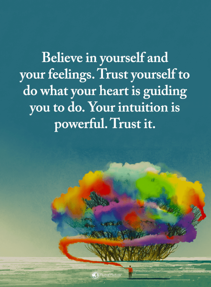 Believe In Yourself And Your Feelings Trust Yourself To Do What Your Believe In Yourself Quotes 101 Quotes