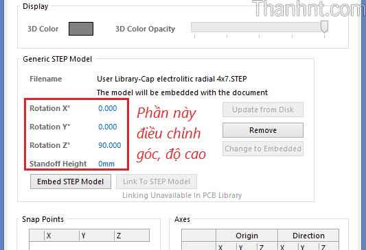 Hướng dẫn add thư viện 3D trong Altium Designer 5