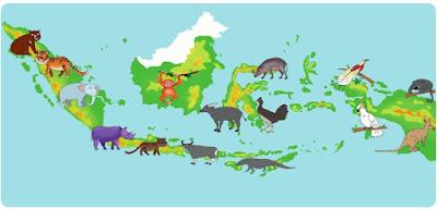 materi pelajaran persebaran fauna di indonesia kelas 5 sd