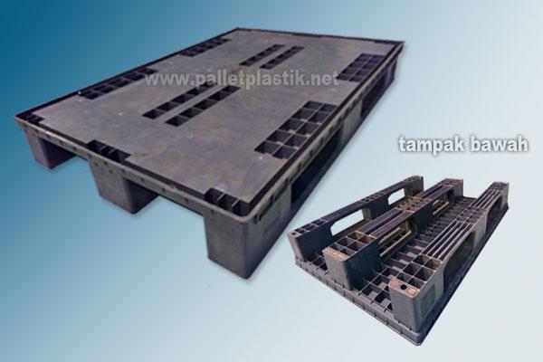 Pallet Plastik Racking Termurah 1200x800x150 mm Rata Atas