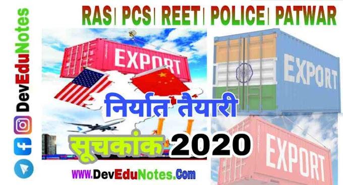 निर्यात तैयारी सूचकांक 2020