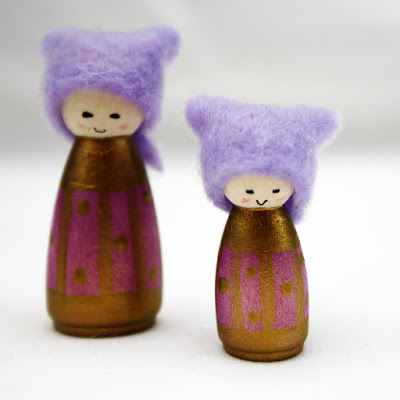 Amethyst Miniature Cornish Pixie Elves