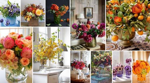 Φθινοπωρινή διακόσμηση με λουλούδια