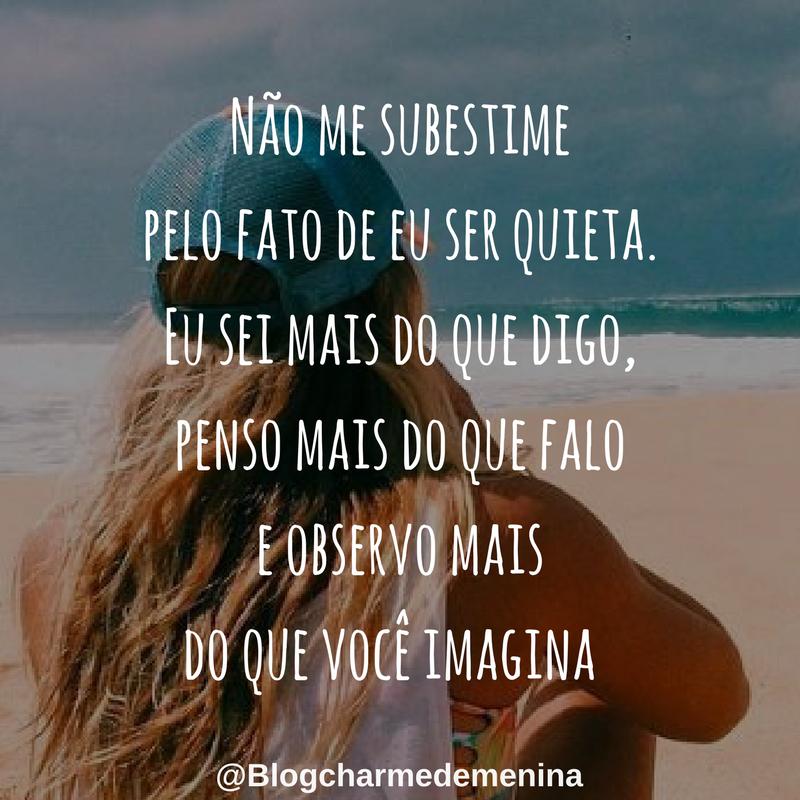 Charme De Menina 10 Frases Aleatórias Para Colocar Nas