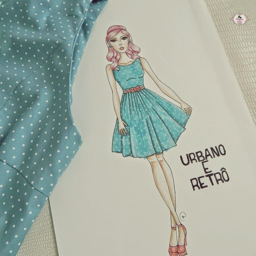 vestido retrô desenho