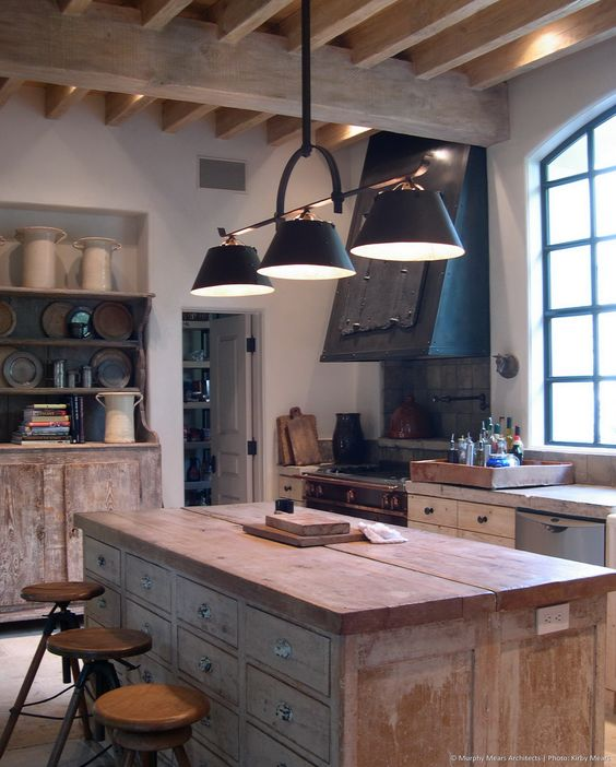 Rustic Elegant French Country kitchen by Eleanor Cummings