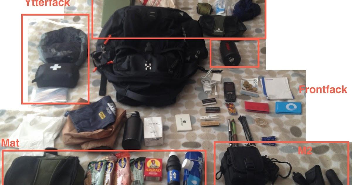 Cornucopia?: Vad har bloggaren i ryggsäcken, egentligen?