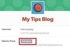 mengganti tema tumblr melalui dashboard
