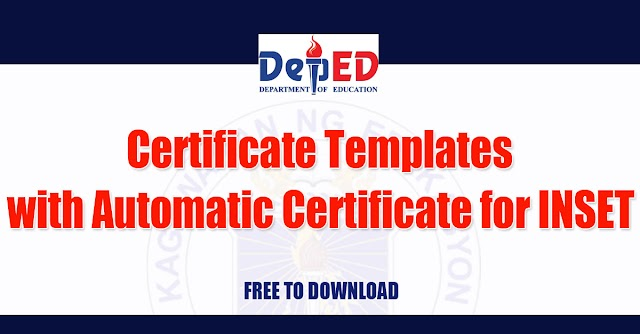 Certificate Templates with Automatic Certificate for INSET