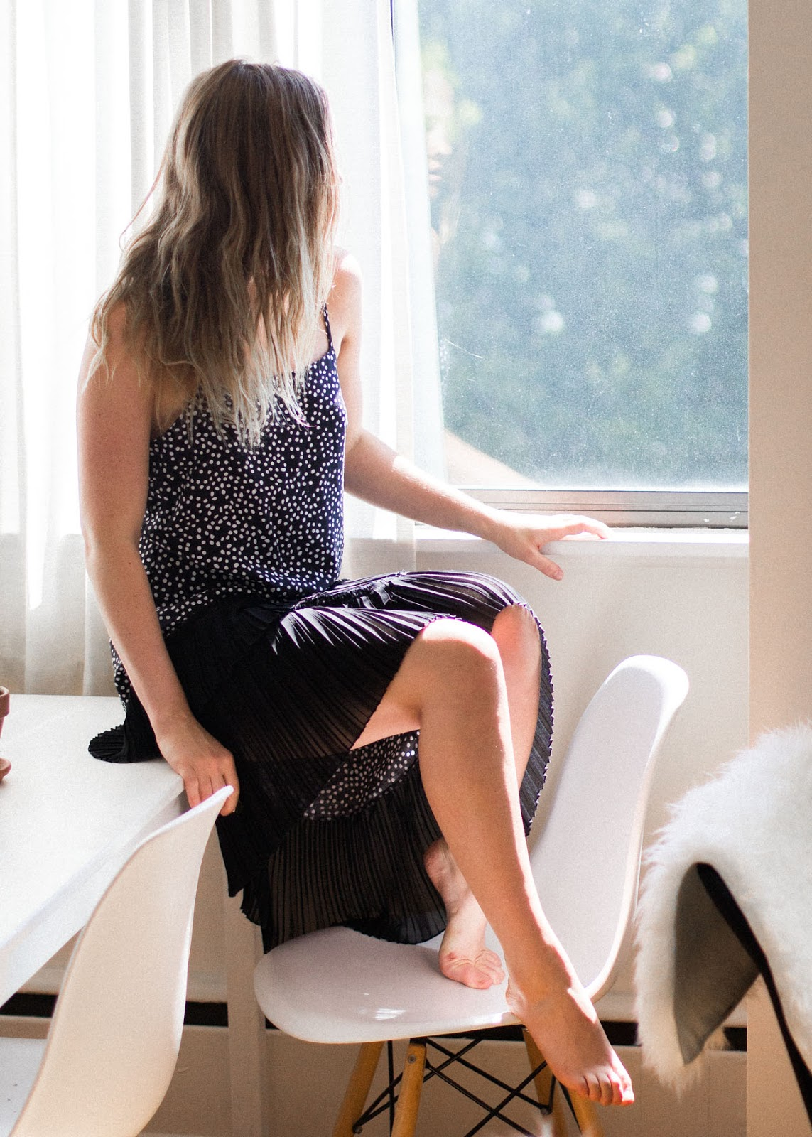 polka dot dress - sale item at H&M - In My Dreams - Vancouver Fashion Blogger