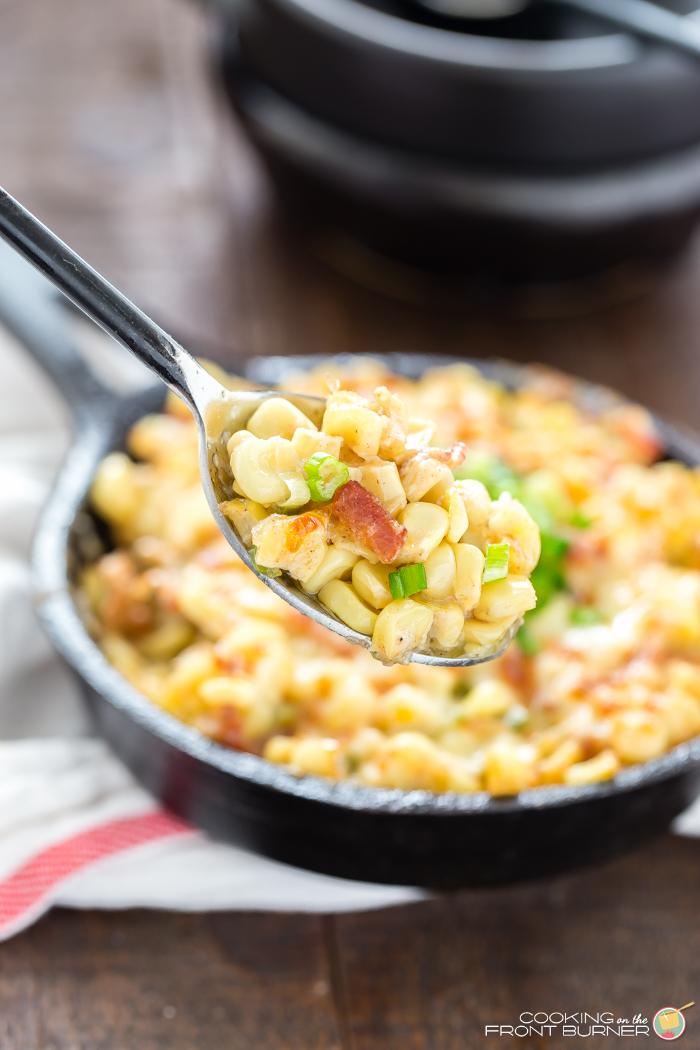 Easy Bacon Corn Cheese Side Dish - Ba'Corn Cheese Skillet!
