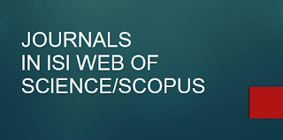 LIST OF JOURNAL IN ISI WEB OF SCIENCE/SCOPUS
