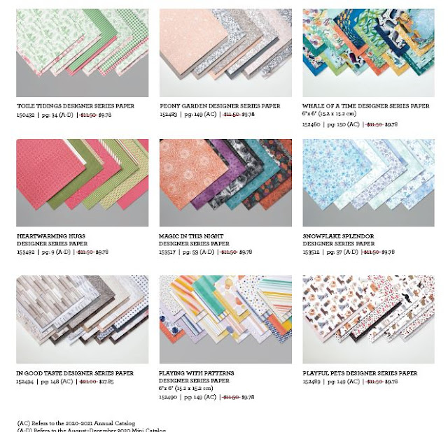 Designer Series Papers on sale at 15 percent off October 2020