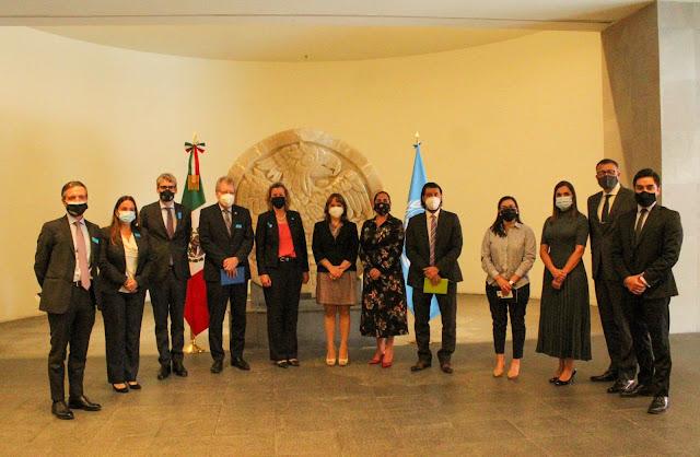Reunión de la subsecretaria Martha Delgado Peralta, con la alta comisionada adjunta para los Refugiados, Kelly T. Clements