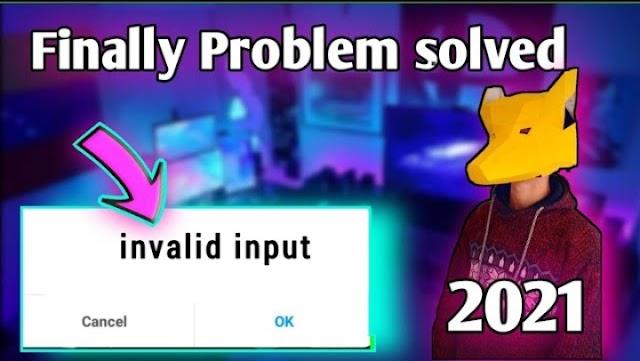Invalid Input problem-100% solved - invalid input solution - invalid input pop up