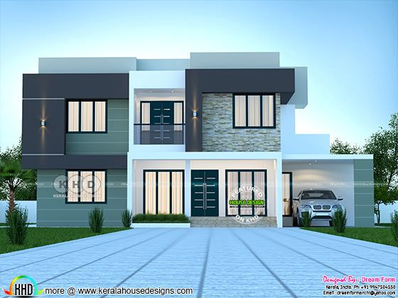 Box model 4 Bedroom modern contemporary home