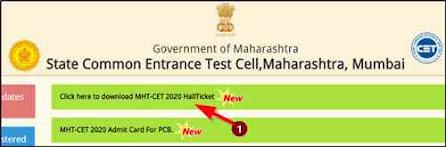 MHT CET Hall Ticket Download