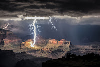 Lightning over Grand Canyon National Park