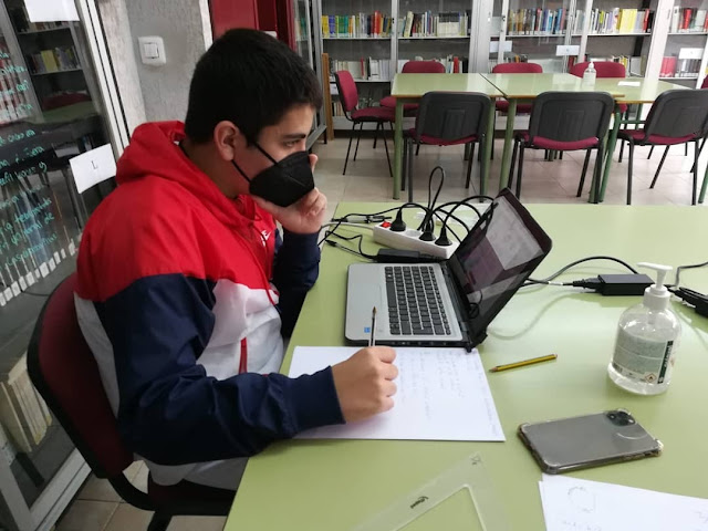 Fotografía cedida por Luis Jerez Tienza, Director del I.E.S. Extremadura