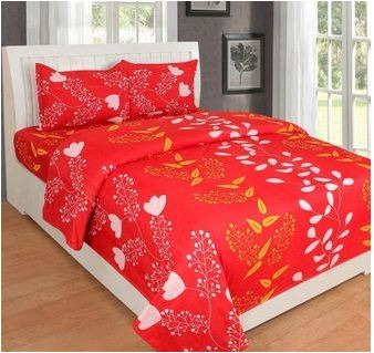 Polycotton Double Bedsheet With 2 Pillow Cover