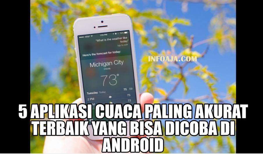 Aplikasi Cuaca di android