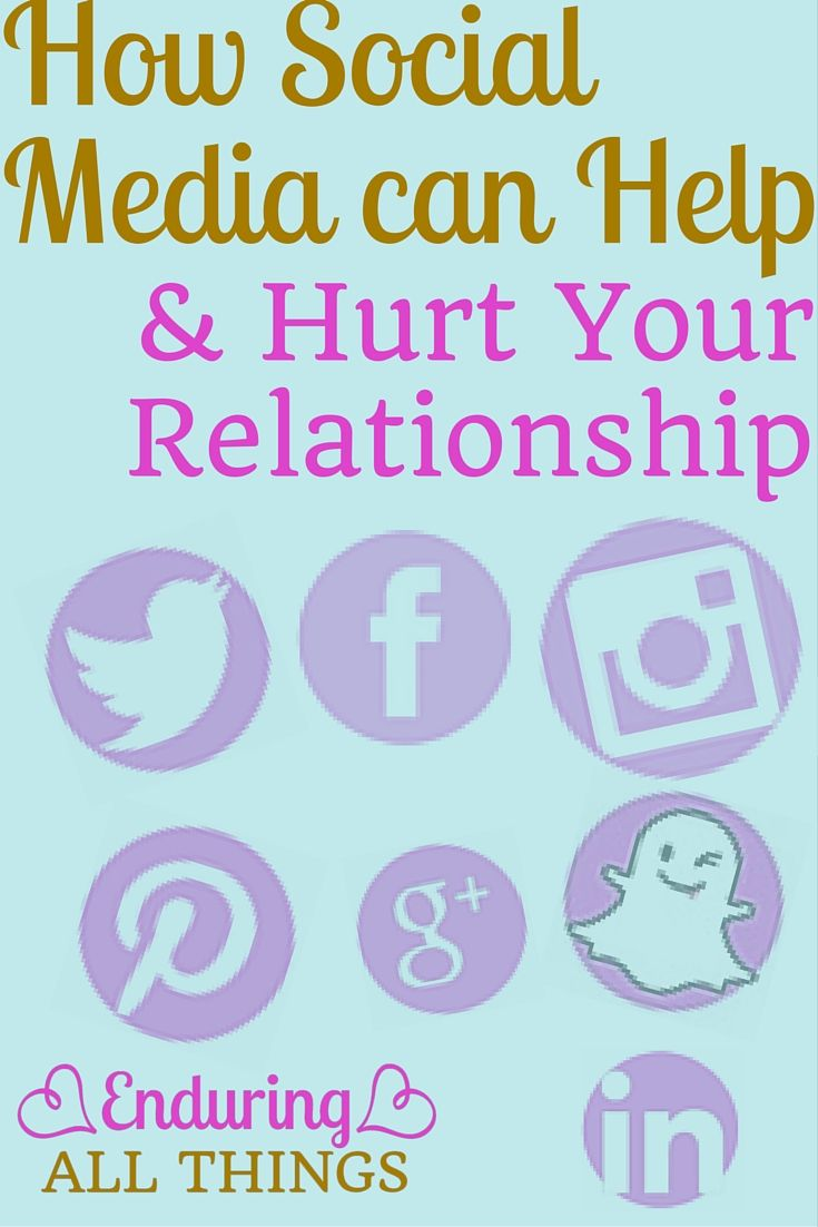 social media and relationships For those already in relationships, social media is a regular source of tension, disagreement, and disengagement i could not possible recall the number of times a partner has complained to the other about their attachment to their phones or ipad's or the feeling that they are not really paying attention, are distracted and caught up in them.