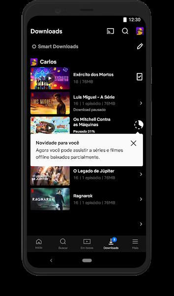 Netflix para Android permite que assistas filmes e series com download parcial