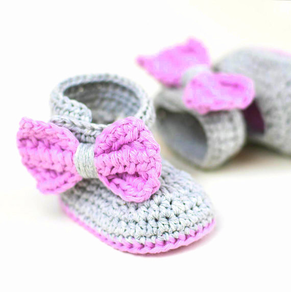 baby booties mary janes Crochet pattern