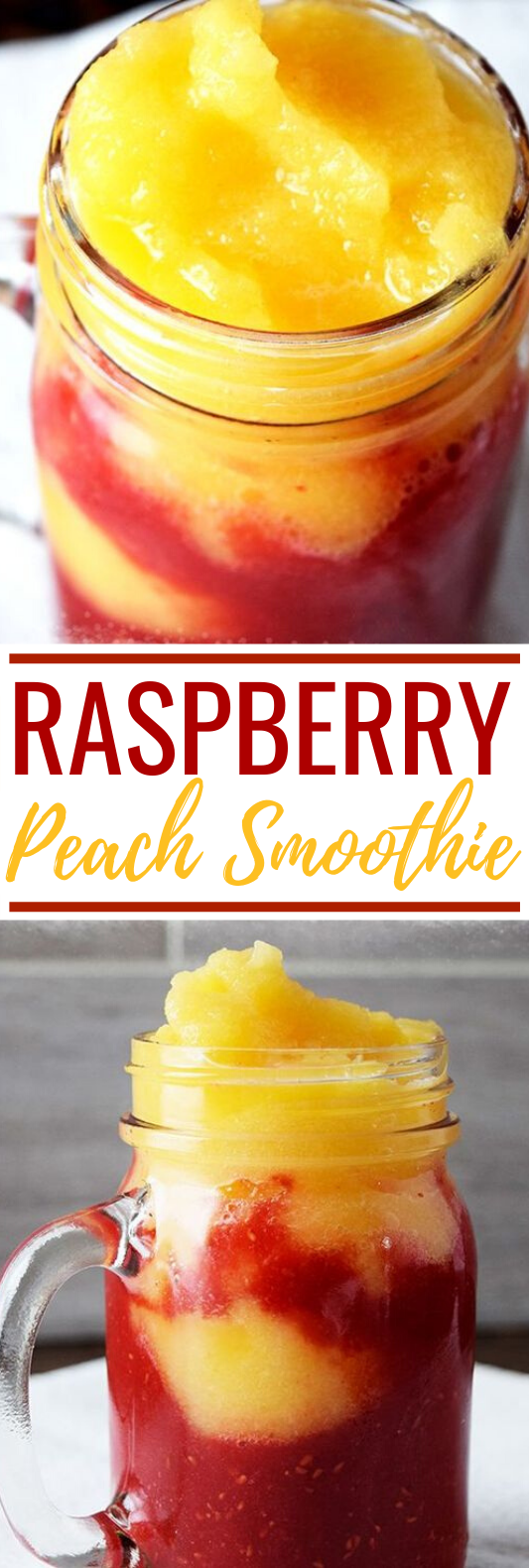 Raspberry Peach Smoothie #drinks #healthy #smoothies #slush #summer