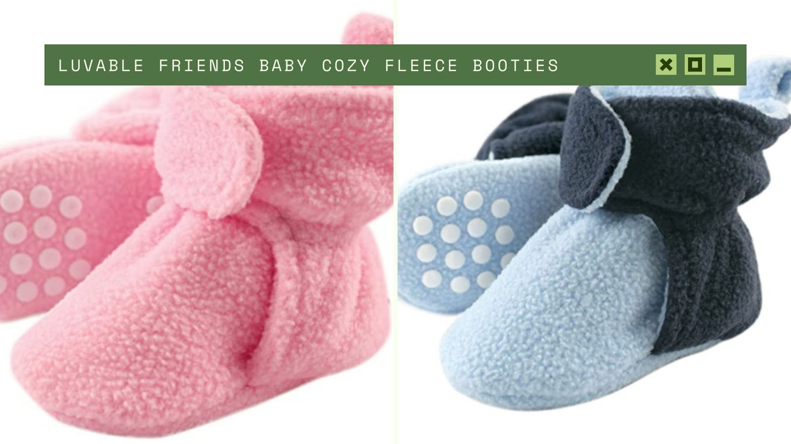 shopping for newborn Luvable Friends Baby Cozy Fleece Booties
