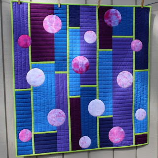 UNLIMITED QUILT-CIRCLES-STRAIGHT LINES-MODERN QUILT-QUILT FOR SALE